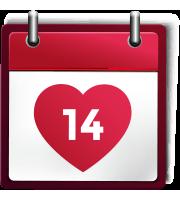 Kalender Icon 14. Debruar - Valentinstag